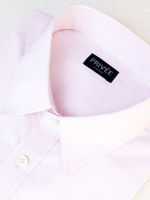 Privee Paris Pink 140s/2Ply Cotton Shirt