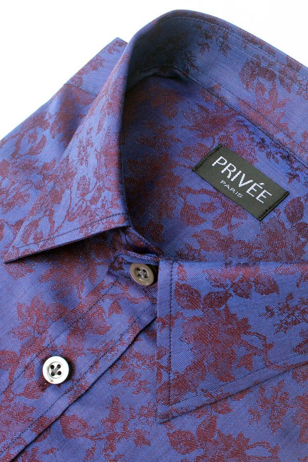 Privee Paris Royal Purple Jacquard (Fancy Shirt)