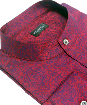 Royal Red Wedding Shirt - Privee Paris