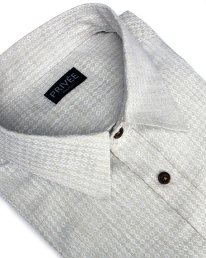 Beige Linen Wedding Shirt - Privee Paris