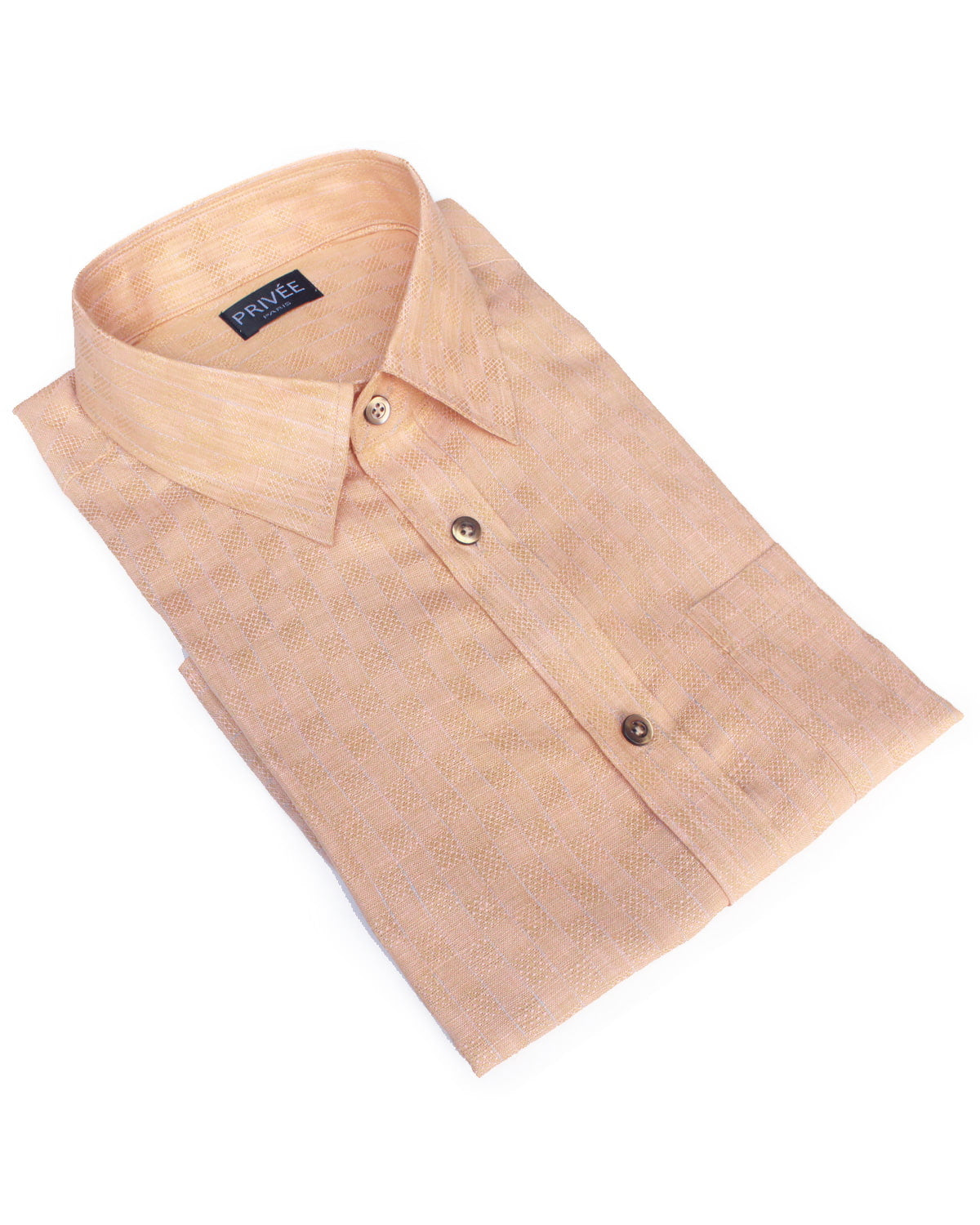 Light Orange Linen Shirt - Privee Paris