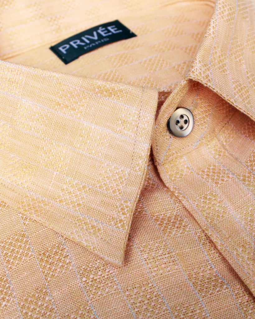 Light Orange Linen Shirts India