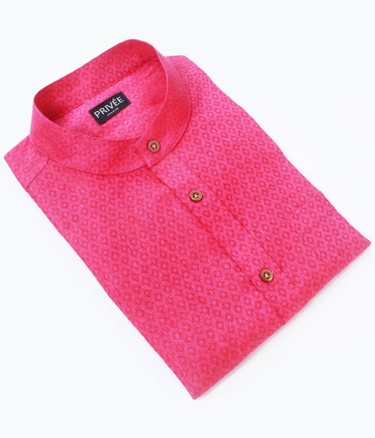Magenta Linen Wedding Shirt