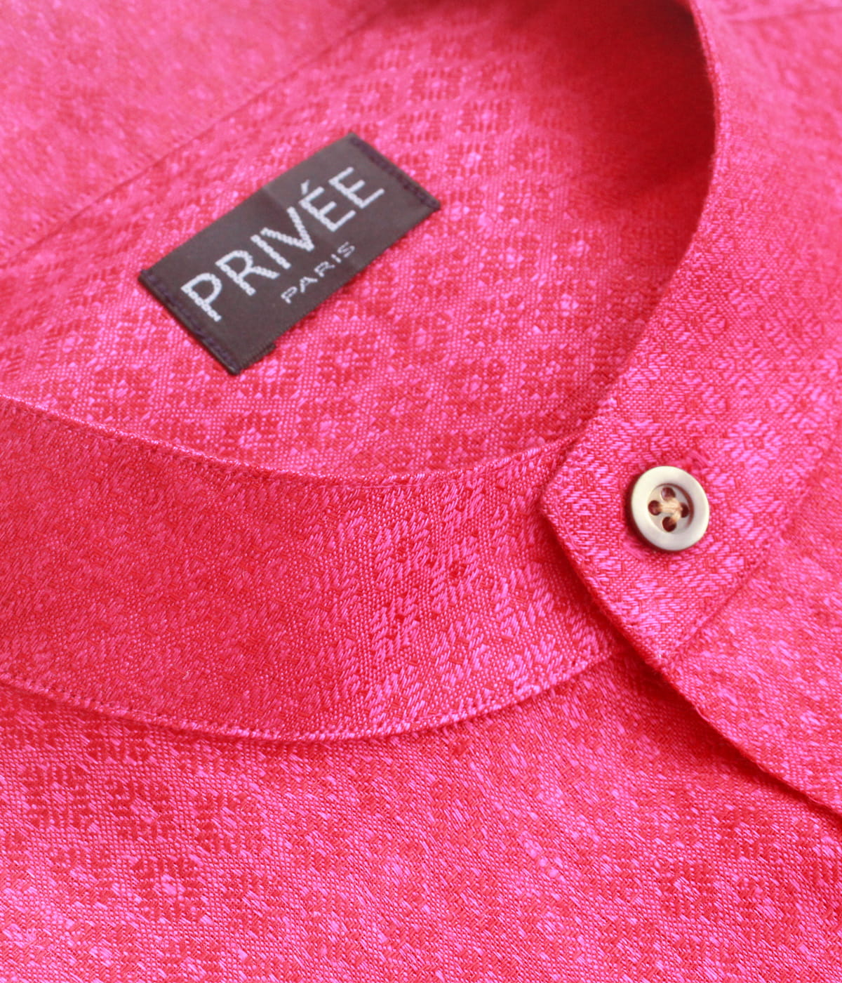 Magenta Linen Designer Wedding Shirts