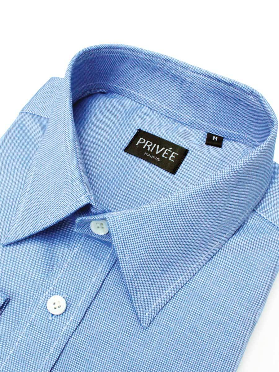 Blue Royal Oxford Shirt (Strong Durable Fabric) - Privee Paris