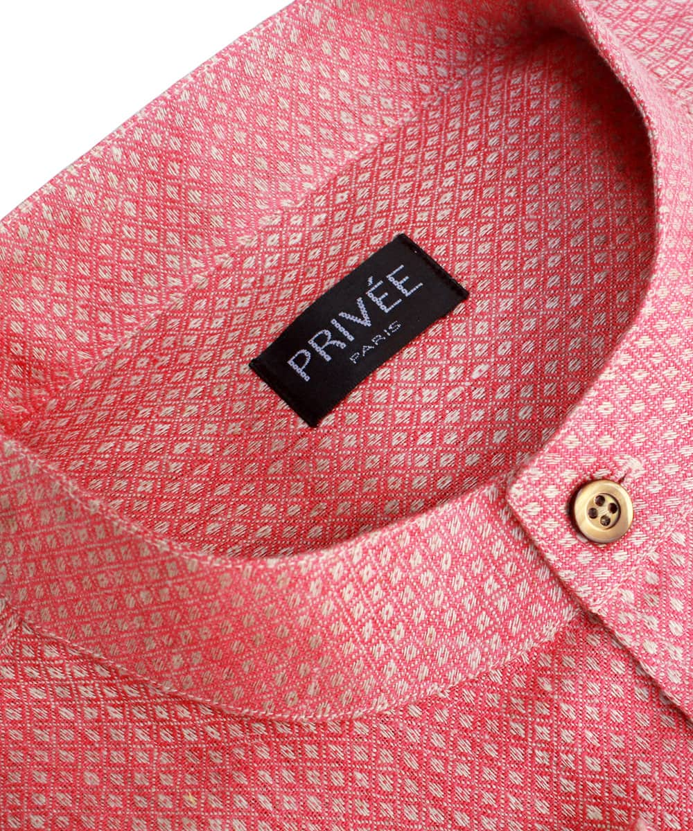 Pink Linen Wedding Shirts India