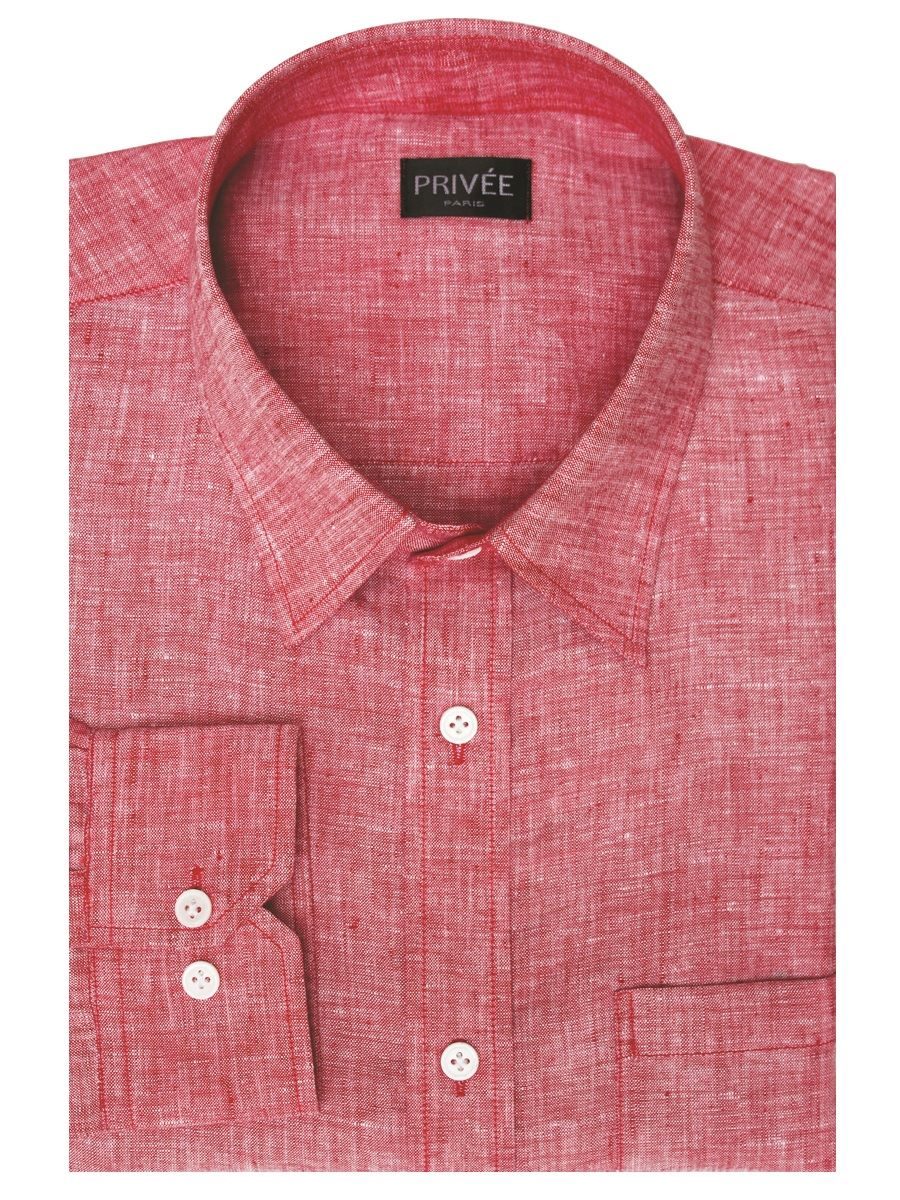 Red Linen Shirt Mens