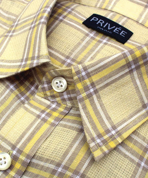 Spring Yellow Linen Shirts for Summer