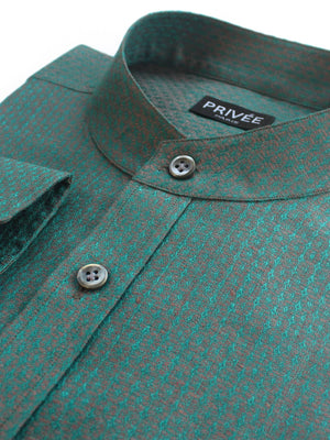 Teal Linen Wedding Shirts