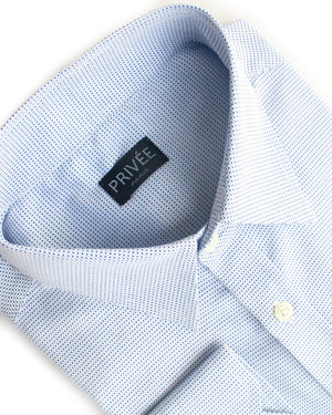 Textured Light Blue Shirt (Winter) - Privee Paris