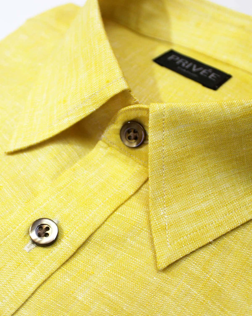 Yellow Linen Shirt - Privee Paris