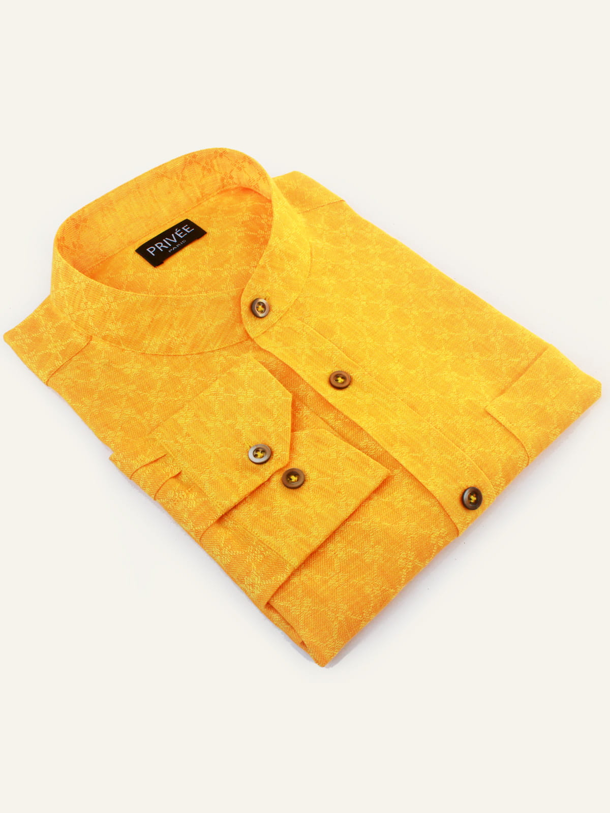 Yellow Linen Wedding Shirts