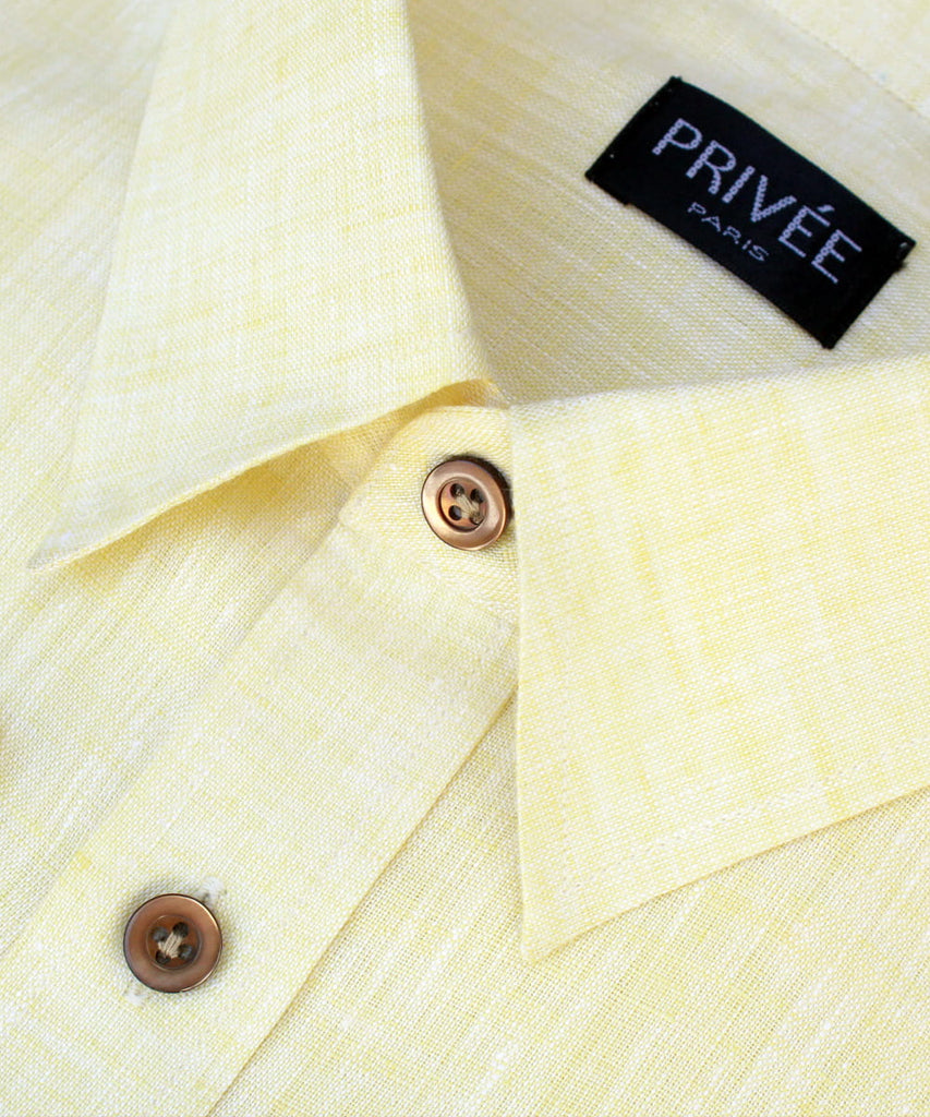 Light Yellow Linen Shirt