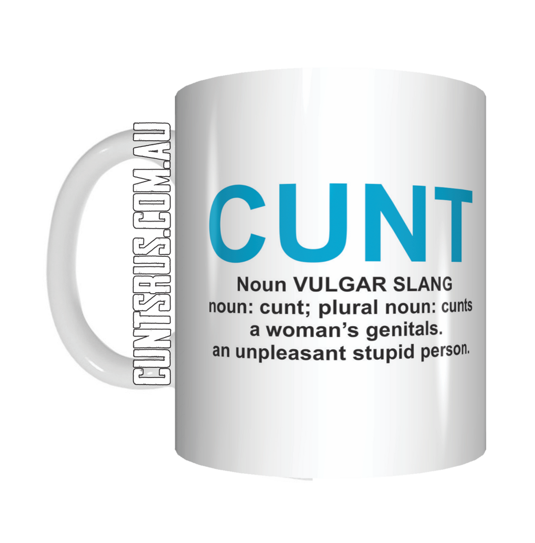 Cunt Definition Dictionary Meaning Coffee Mug Gift CRU07-92-8213