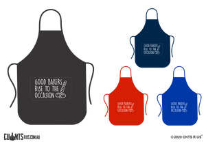Good Bakers Rise To The Occasion Apron With Pockets - Choose From Black, Red, Navy or Royal Blue CRU06-03-27005