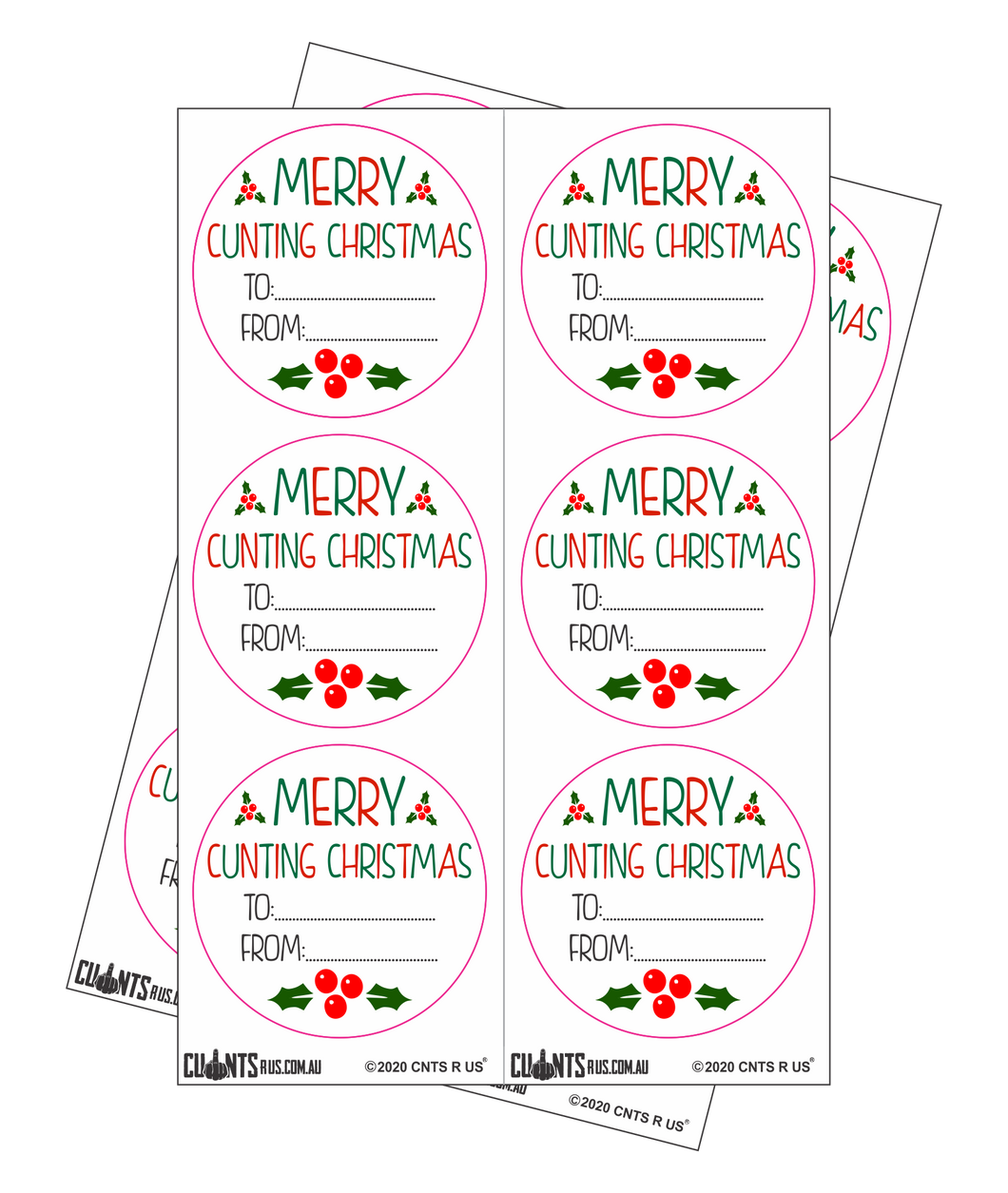 Sticker Pack - Merry Cunting Christmas CRU18-23R-11053