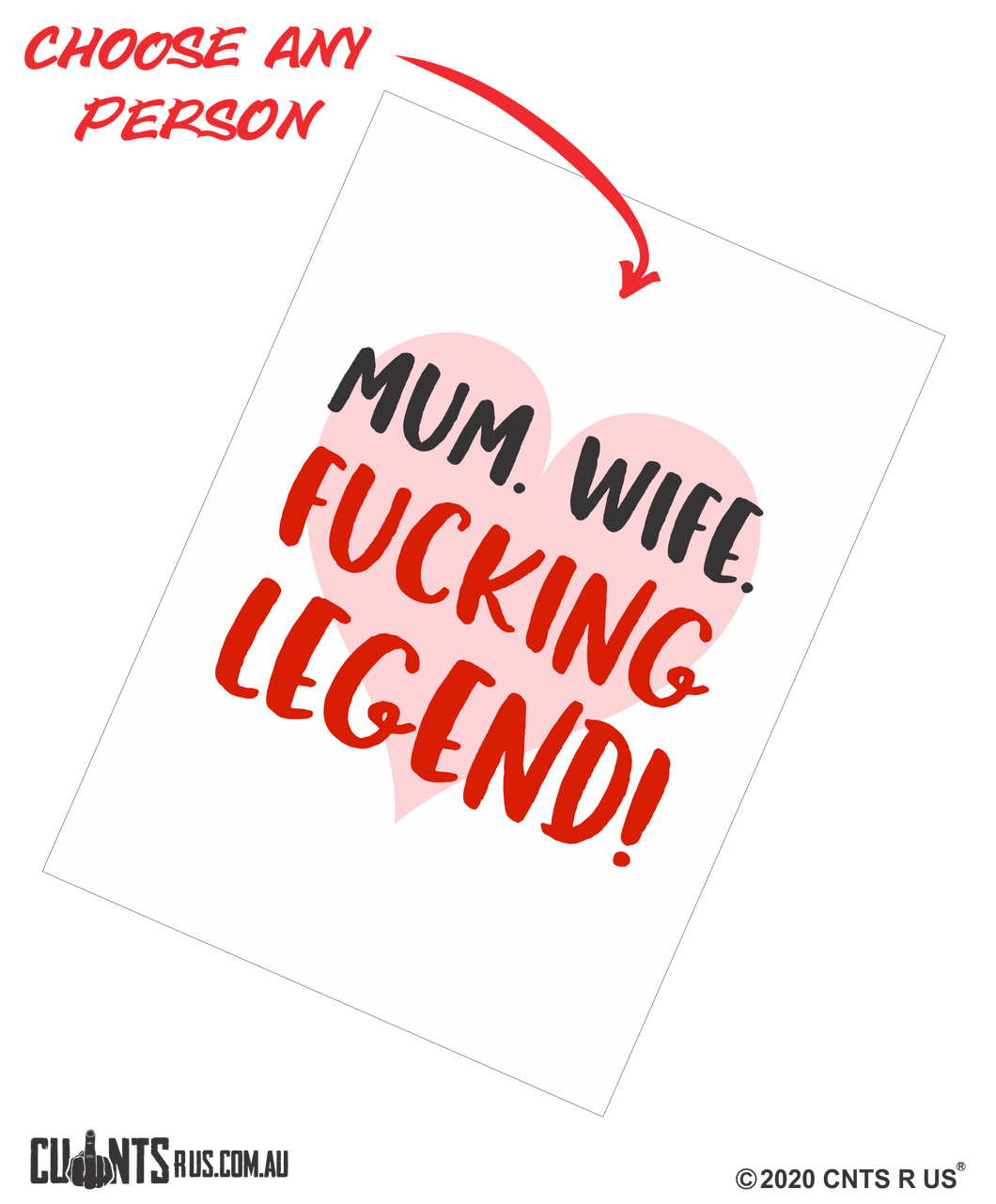 Mum. Wife. Fucking Legend Mother's Day Cotton Teatowel CRU03-03-14014