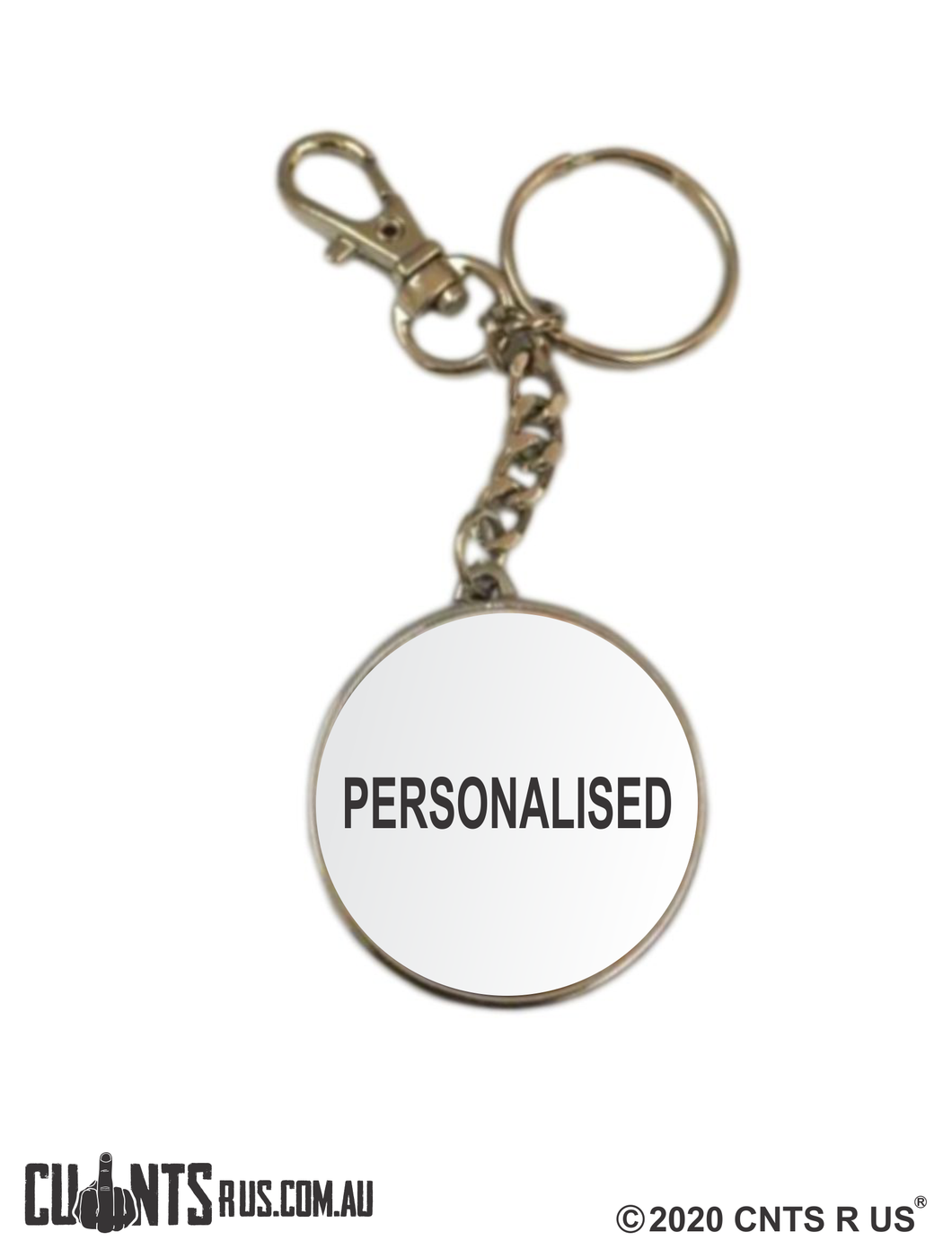 Personalised Classic Double Sided Keyring CRU17-32-51002