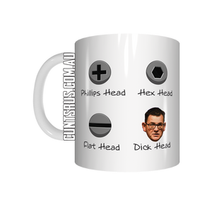 Phillips Head Hex Head Flat Head Dick Head Coffee Mug CRU07-92-12128