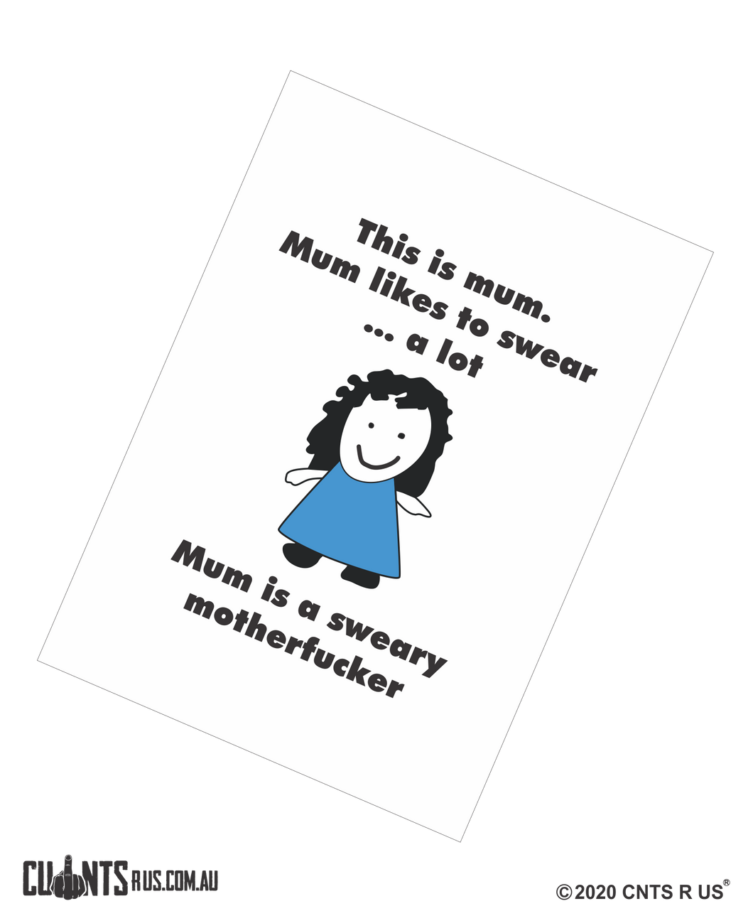This Is Mum. Mum Likes To Swear Sweary Motherfucker Mother's Day Cotton Teatowel CRU03-03-14015