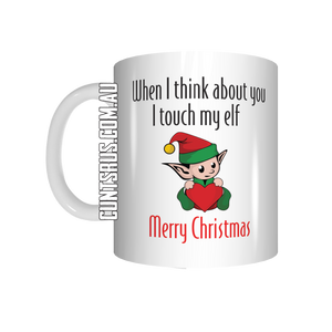 When I Think About You I Touch My Elf Mug CRU07-92-12082