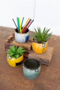 Assorted Recycled Metal Pots
