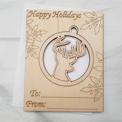 Wooden Ornament Cards