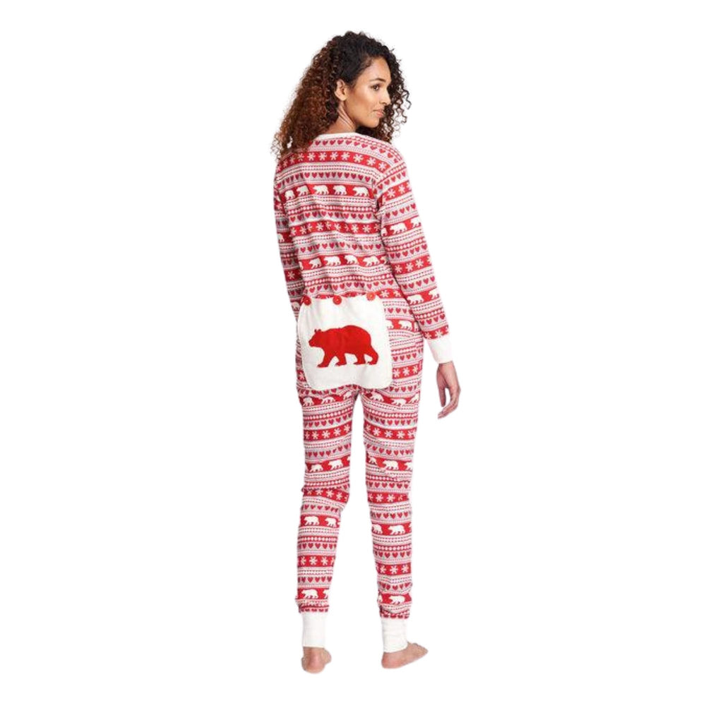 Fair Isle Bear Adult Union Suit