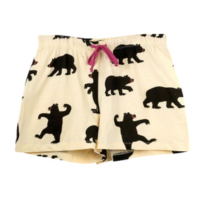Load image into Gallery viewer, Black Bear Women's Sleep Shorts