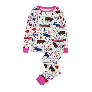 Load image into Gallery viewer, Pretty Sketch Country Kid's Pajama Set