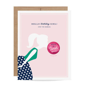 Load image into Gallery viewer, Bubble Gum Scratch-off Birthday Card