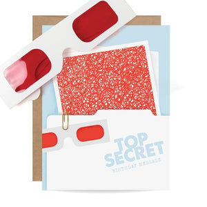 Top Secret Decorder Birthday Card