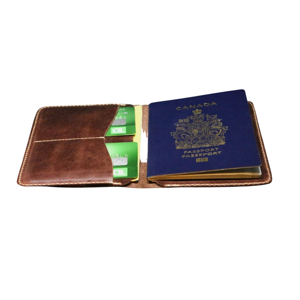 Load image into Gallery viewer, Leather GUZO Passport Wallet