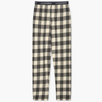 Cream Plaid Men's Jersey Pajama Pants
