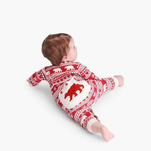 Load image into Gallery viewer, Fair Isle Bear Baby Union Suit