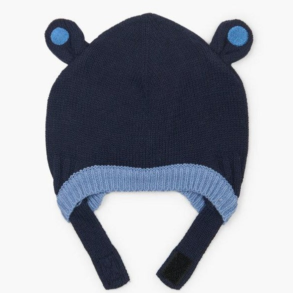 Blue Bear Ears Baby Winter Hat Toque