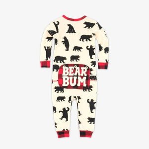 Black Bears Baby Union Suit - Bear Bum