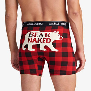 Load image into Gallery viewer, Buffalo Plaid Bear Naked Men's Boxer Brief