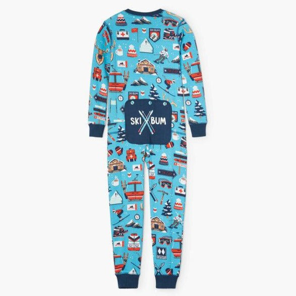 Blue Ski Holiday Kid's Union Suit