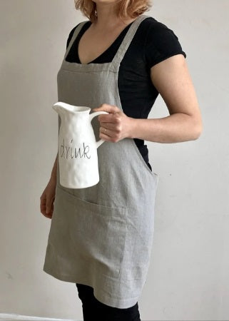 Load image into Gallery viewer, Catalina Linen Apron