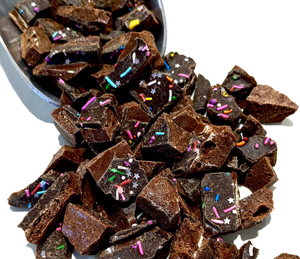 Chocolate Birthday Cake Brittle