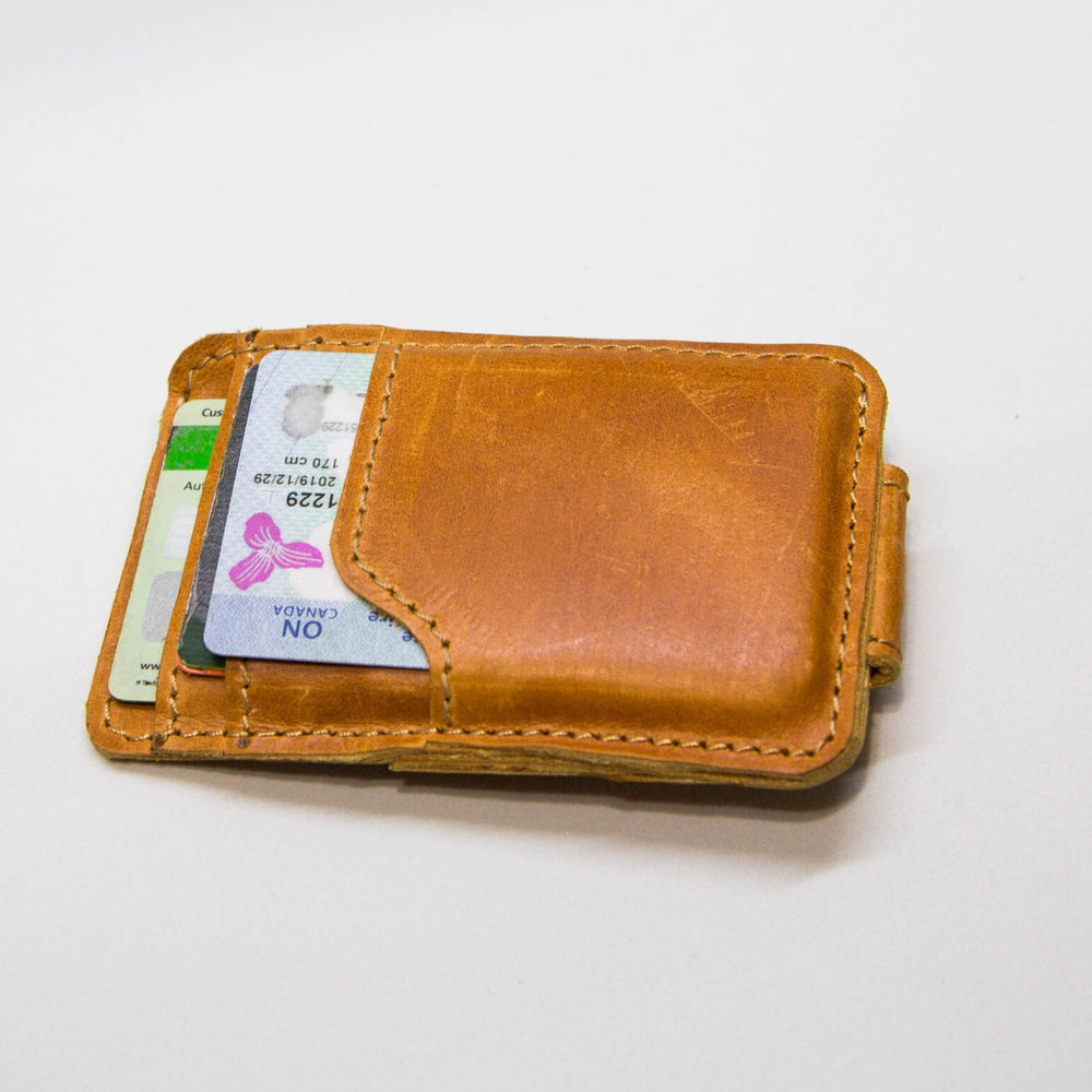 Leather EYOB Magnet Clip Wallet
