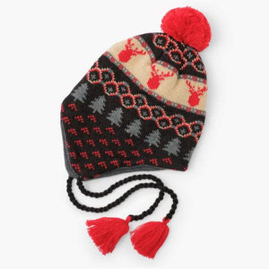 Fair Isle Stags Fleece Lined Trapper Hat