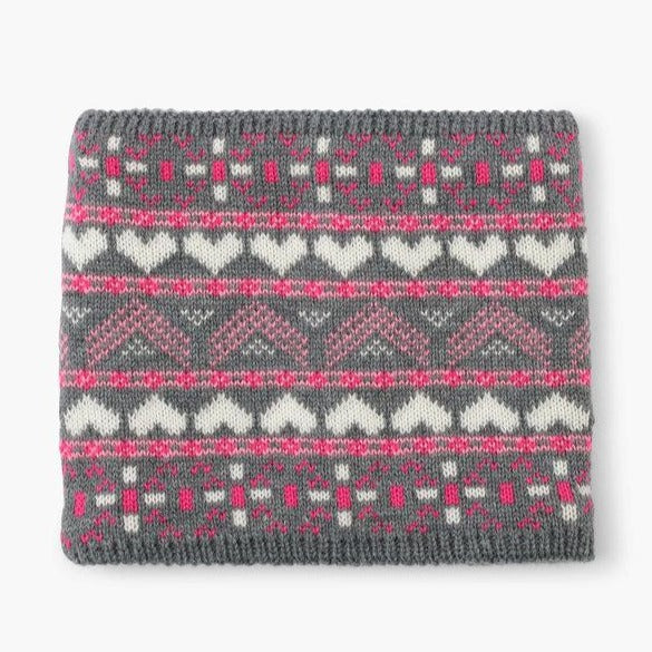 Load image into Gallery viewer, Winter Hearts Fleece Lined Neck Warmer