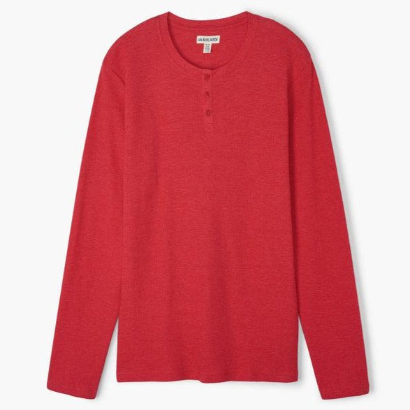 Holiday Red Men's Waffle Henley