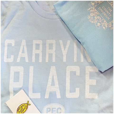 The Carrying Place Unisex T - Light Blue
