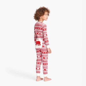 Load image into Gallery viewer, Fair Isle Bear Kid's Union Suit