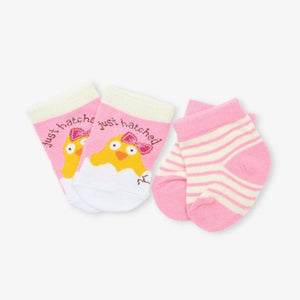 Pink Just Hatched 2-Pack Baby Sock