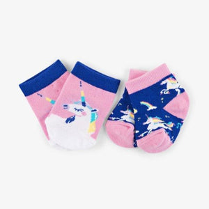 Load image into Gallery viewer, Rainbows Unicorns 2-Pack Baby Sock