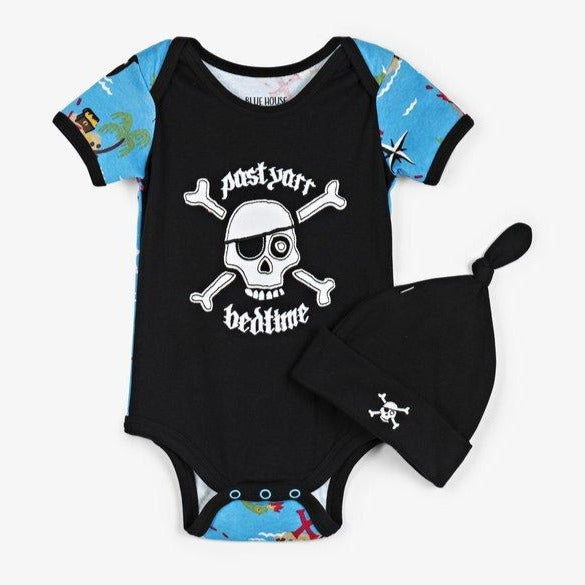 Treasure Island Baby Onesie with Hat